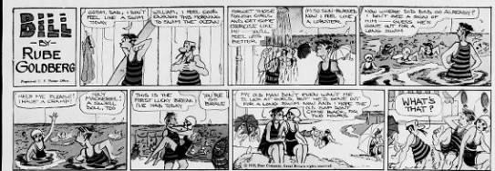 Bill Cartoon Panel by Rube Goldberg 1930