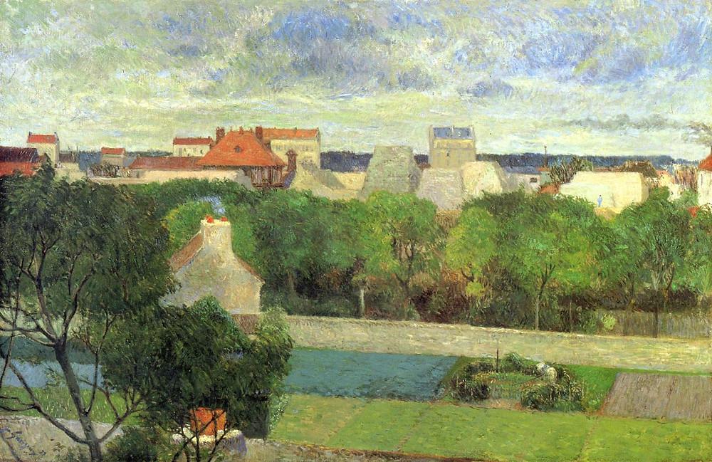 The Market Gardens of Vaugirard by Gauguin