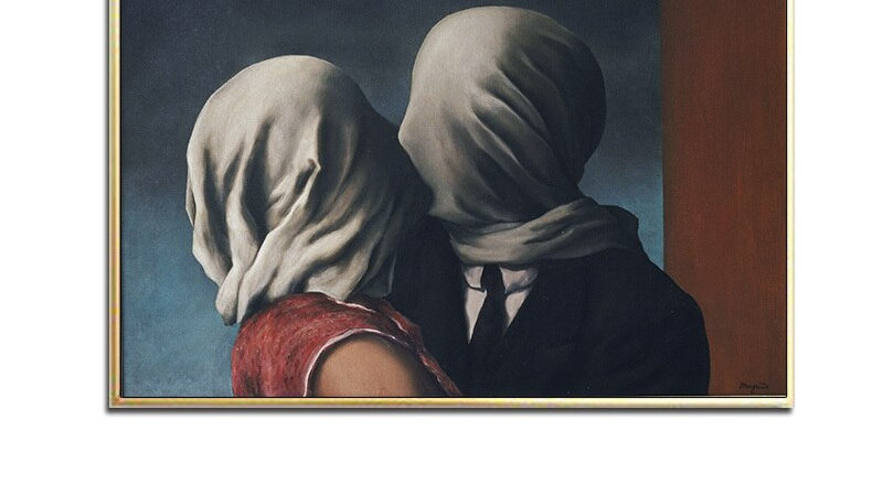 The Lovers II, 1928 by Rene Magritte