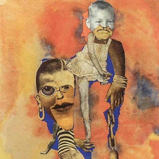 "Hannah Hoch's 1925 ""Equillibre,"" or Balance,"" was originally titled ""America Balancing Europe."""