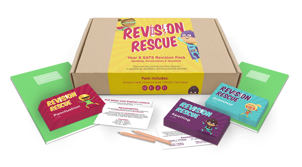 Spelling, Punctuation and Grammar revision pack