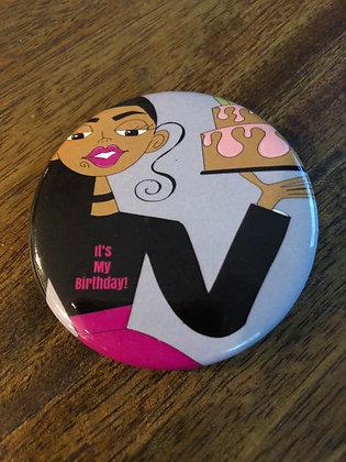 Happy Birthday- Button