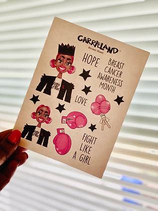 Carrieland - Breast Cancer sticker sheet