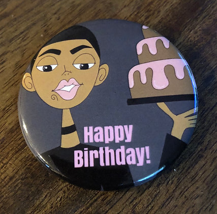Happy Birthday Ice Cream- Button