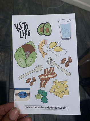 Keto  | Sticker Page