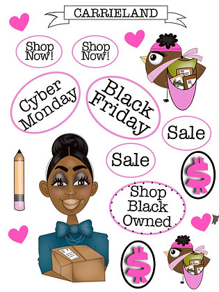 Black Friday Mini Sticker Sheet
