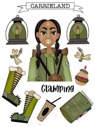 Glamping Sticker Sheet