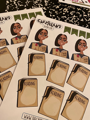 Carrieland - Bookclub Sticker Sheet