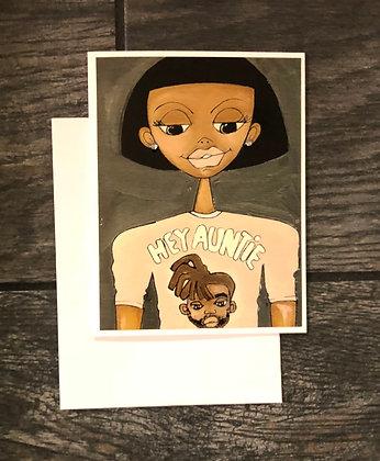 Graphic Tee Notecard |  Hey Auntie
