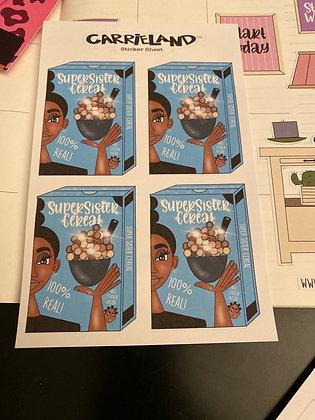 Carrieland - Supersister cereal sticker sheet
