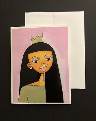 Pink Queen | Notecard