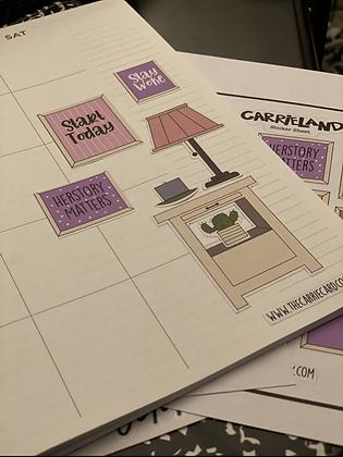 Carrieland - nightstand sticker sheet