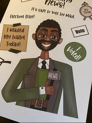 Carrieland-Vote Sticker sheet