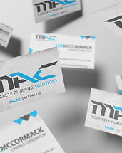 MAC Concrete Pumping Solutions business card