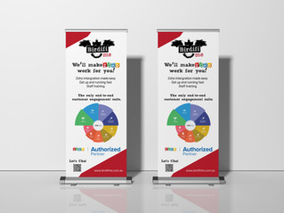 Exhibition Stand Roll-Up Banner Birdifi