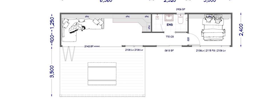 Container #1 floor plan