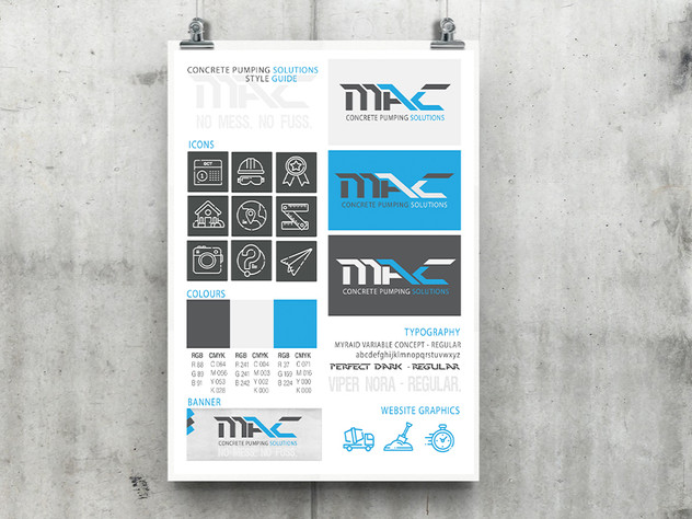 Mack A3 Style Guide poster