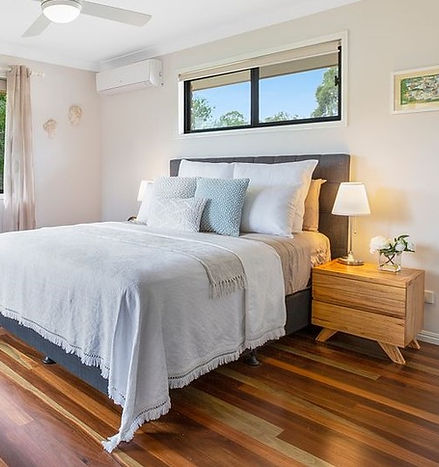 Beautifully styled bedroom, staged ready to sell
