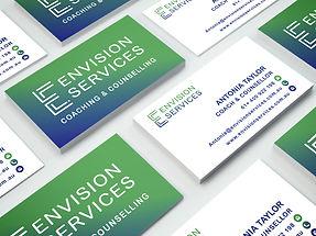 Envision Services business card design