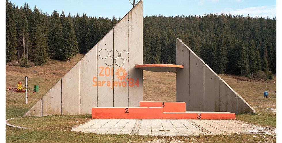 Medal Stand, 1984 Winter Olympics, Sarajevo
