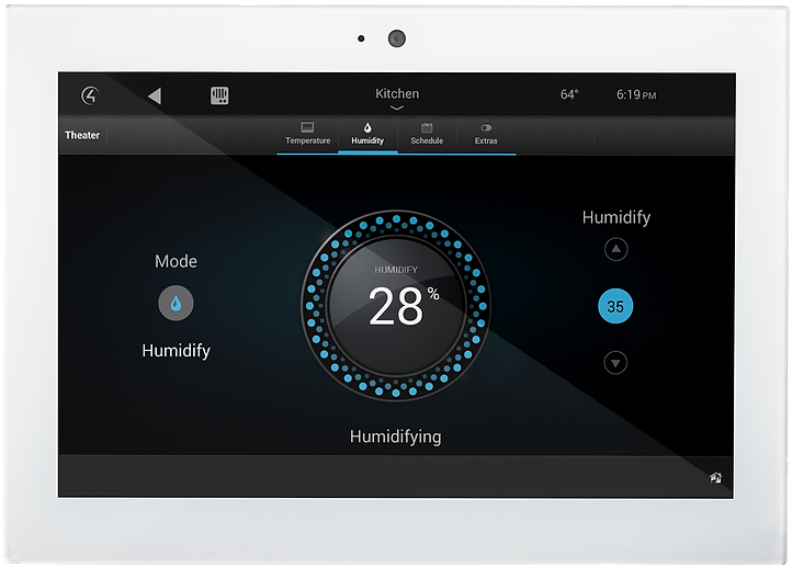 Smart Thermostat Control Touch Screen Interface by Nu Automations for your smart home and home automation needs.