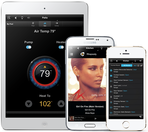 Control4 Home Audio System with iOS interface Smart Control by Nu Automations for your smart home and home automation needs.