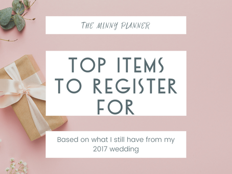 Top items to register for