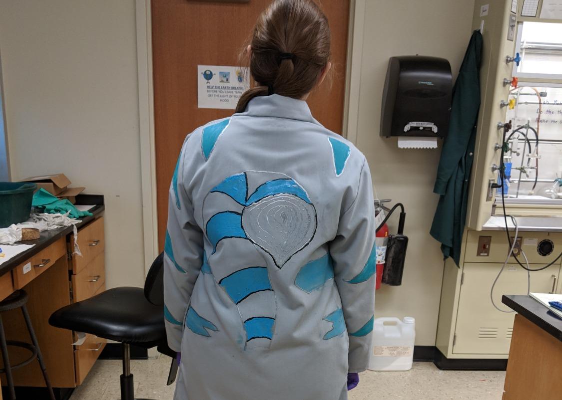 Jessica's Halloween Lab Coat
