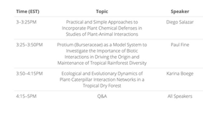 ATBC Webinar:  Frontiers in Tropical Biology and Conservation