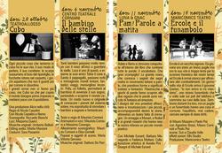 IL CANTO DELLA CICALA programma 2012