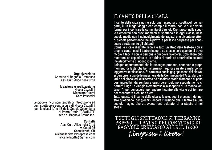 IL CANTO DELLA CICALA programma 2010