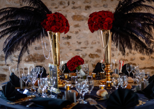 La table des mariés style années 20 - Bride and grom's table in the 1920s style