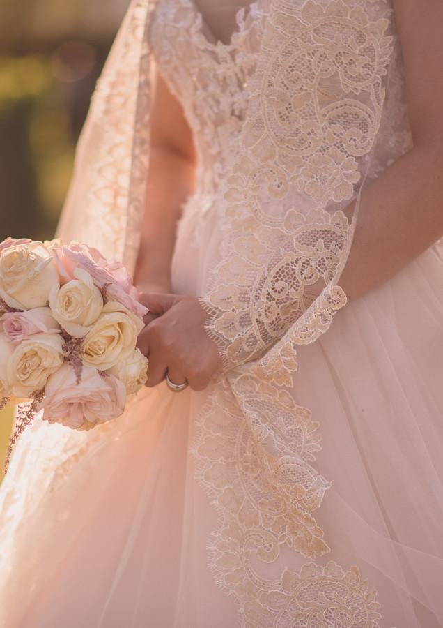 Le bouquet romantique de la mariée
