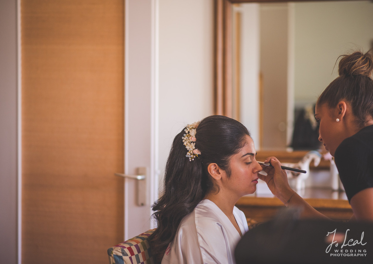 La mariée se prépare