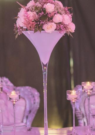 Centre de table - vase martini