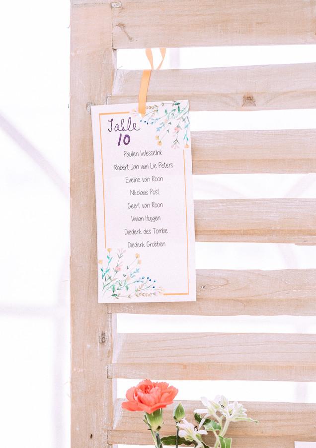 Plan de table - seating plan