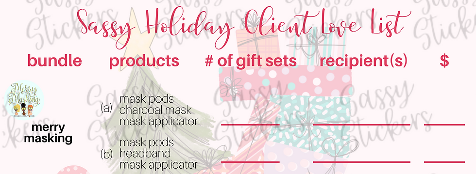 Sassy Holiday Client List