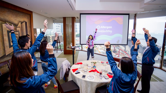 Allergan Team Building – Add Colour to Your World
