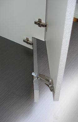 Flying Toekicks (TM) attached toe kick hardware