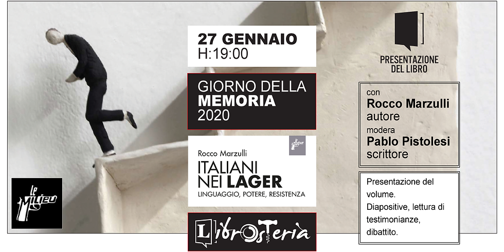 Giorno della Memoria 2020 - Italiani nei lager - Presentazione del libro