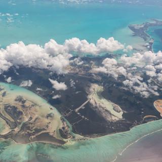 High over the Bahamas
