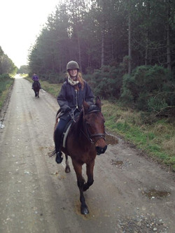 Horse riding at Garmouth stables.