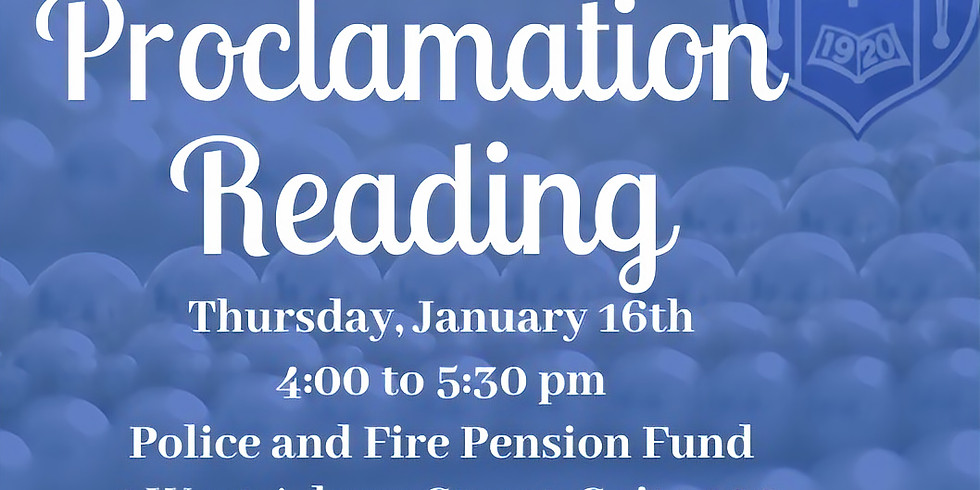 Proclamation Reading