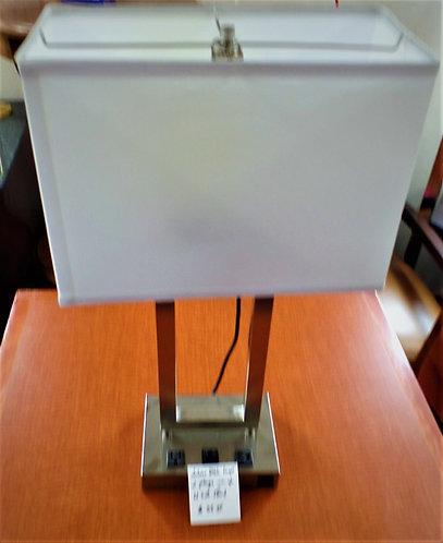 Desk Lamp W/ USB & 2-Outlets