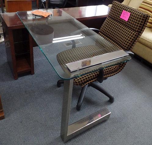 Modern Executive Movable Glass Top Desk