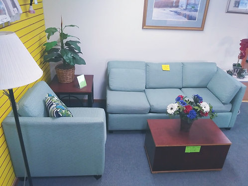 Turquoise /Teal Hide-A-Bed Couch / Sectional