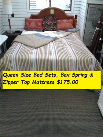 Queen Size zipper Top Mattress & Box Spring set