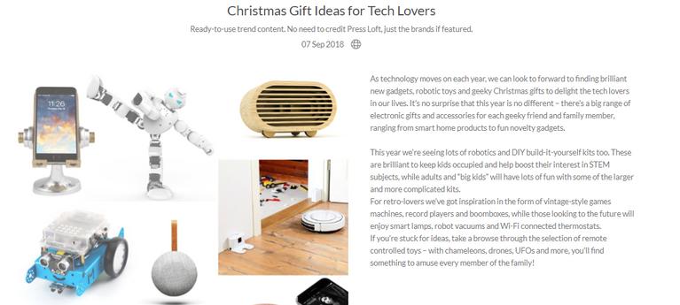 Press Loft - Christmas Gifts Tech Lovers