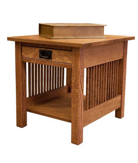 Spindle end table