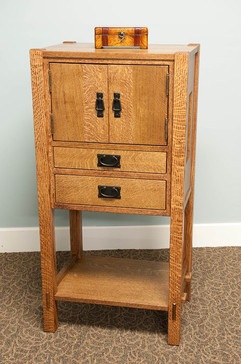 White Oak liquar cabinet